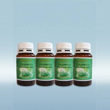 Chlorella Microalgae - Made in Germany! 4x 60 tablets (72 g)