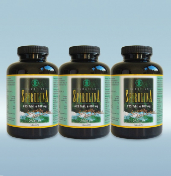 Das Original: Hawaiian Spirulina 3x 625 Tabletten (750 g)