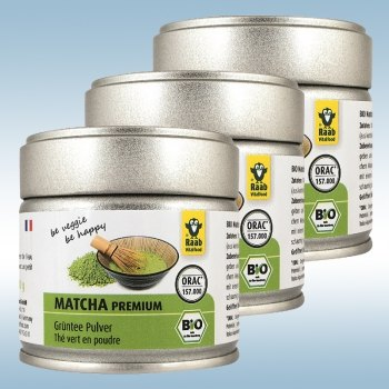Organic Matcha Premium Green Tea (3x 30 g) - delicious and rich in nutrients